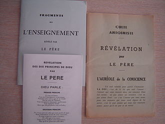 Antoinism - Three Antoinist booklets which contain some excerpts of Antoine's books