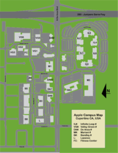 Apple Campus - Wikipedia on hp campus map, pentagon basement map, pentagon inside map, pentagon north parking lot map,