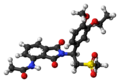 Apremilast molecule ball.png