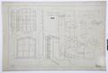 Arbetsritning för fastigheten nr 4 Hamngatan. Järngaller och fönster - Hallwylska museet - 105261.tif