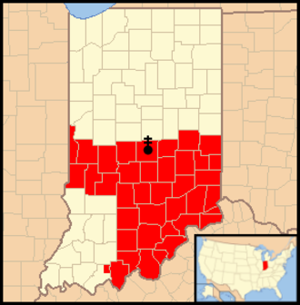 Roman Catholic Archdiocese of Indianapolis - Image: Archdiocese of Indianapolis map 1