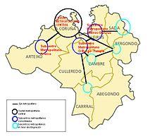 A Coruña Mapa España.A Coruna Wikiwand