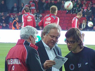Arie Haan - Arie Haan before the World Cup qualifier against Denmark in 2009