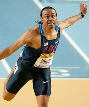 Aries Merritt - Merritt during 2012 World Indoor Championships.