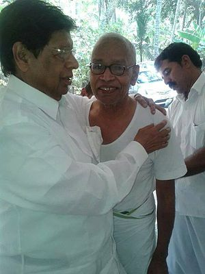 Arimbra Bapu - Arimbra Bappu with MP Sri. E. Ahamed