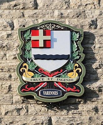 Varennes, Quebec - Image: Armoiries de Varennes, Québec