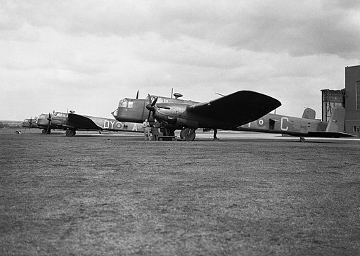 Armstrong Whitworth Whitley Mk Vs of No. 102 Squadron RAF being prepared for a leaflet-dropping sortie at Driffield, Yorkshire, 7 March 1940. C921