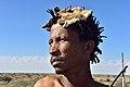 Arri Raats, Kalahari Khomani San Bushman, Boesmansrus camp, Northern Cape, South Africa (20354528590).jpg