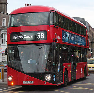 Arriva London bus LT6 (LT12 FHT), route 38, 5 May 2013.jpg