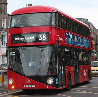London Buses route 38 - New Routemaster in May 2013