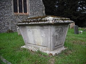 Arthur Young (agriculturist) - Young's tomb at All Saint's Church, Bradfield Combust