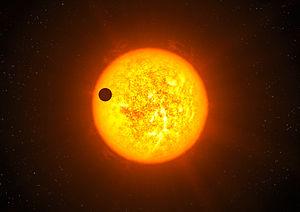 COROT-9b - Image: Artist's impression of exoplanet Corot 9b