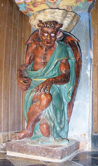 Asmodeus - The figure of Asmodeus in Rennes-le-Château.