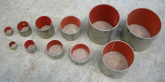 Plain bearing - Split bi-material bushings: a metal exterior with an inner plastic coating