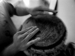 Atabaque - Drumming on an atabaque