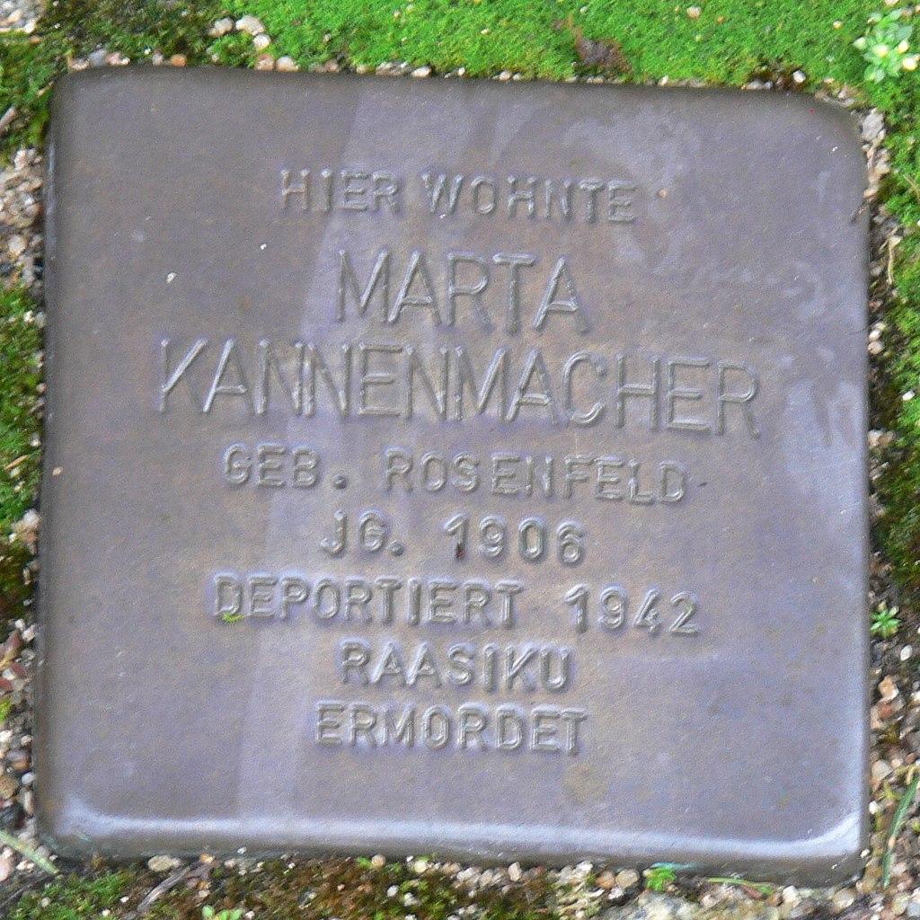 Aub - Stolperstein Kannenmacher, Marta.jpg