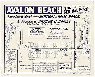 Avalon Beach, New South Wales - Image: Avalon Beach Central Estate, Avalon Pde, Barrenjoey Rd, 1921 1926