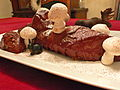 Bûche de Noël, with chocolate moose and meringue mushrooms, 2009 (2).jpg