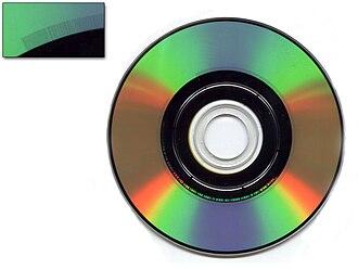 Burst cutting area - The Burst Cutting Area on an 80mm DVD