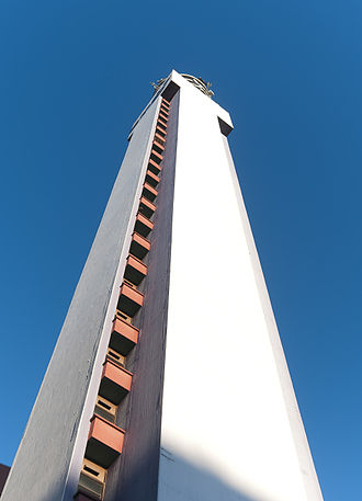 BT Tower (Birmingham) - Vertical view of the south face of the tower