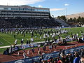 BYU Entering Field, Nevada Wolf Pack vs. Brigham Young Cougars, Mackay Stadium, University of Nevada, Reno, Nevada (11142298503).jpg