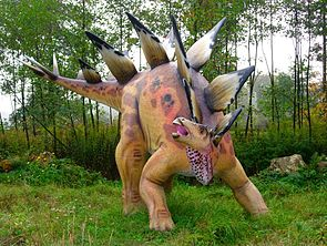 Modell von Stegosaurus