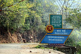 Bắc Kạn Province - Park sign near the lake management station