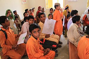 Education in Pakistan - A primary school in a village in the Sindh region