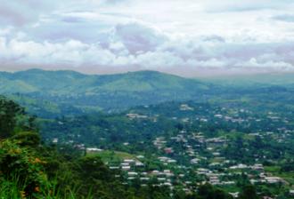 Bafut, Cameroon - View over Bafut Commune