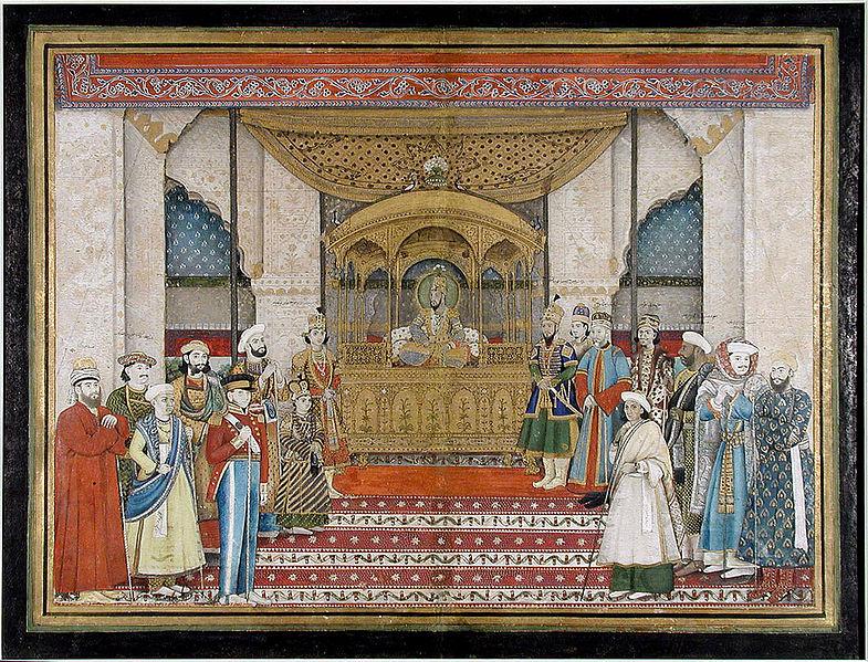File:Bahadur Shah II in Darbar.jpg