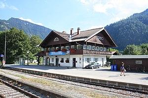 Bayrischzell - Image: Bahnhof Bayrischzell