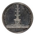 Baksida av medalj med rostrum och svärd samt text - Skoklosters slott - 99425.tif