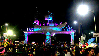 Festivals of Odisha - The entrance to the 2012 Bali Jatra trade fair in Cuttack.