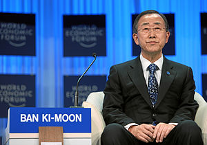 Korean name - Ban Ki-moon in Davos, Switzerland - the usual presentation of Korean names in English, as shown here, is to put the family name first (Ban is the family name)