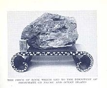 Phosphate rock used as door stop