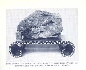 John T. Arundel - Phosphate rock used as door stop