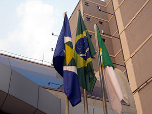 Cuiabá - Flags of Mato Grosso, Brazil, and Cuiabá.