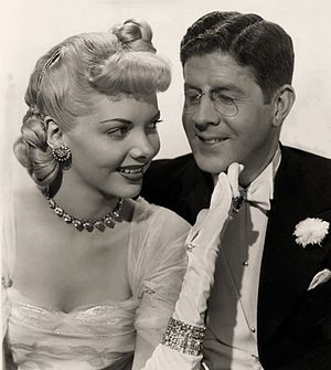 Unfaithfully Yours (1948 film) - Publicity still with Barbara Lawrence and Rudy Vallee