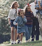 Barbara and Jenna Bush with a cousin in 1992 (186458).jpg