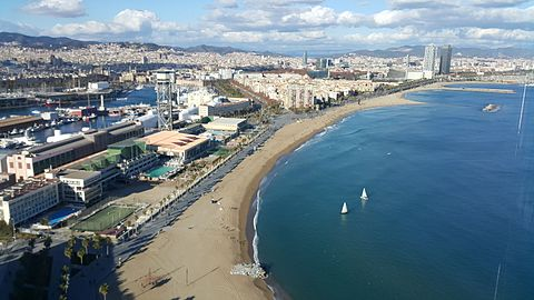 Barcelona Platja de Sant Sebastia Barceloneta