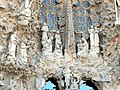 Barcelona Sagrada familia sculptures in the Nativity Facade 02.jpg
