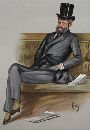 "Ferdinand de Rothschild - ""Ferdy"", 1889 Vanity Fair caricature of Baron Ferdinand de Rothschild in the House of Commons"