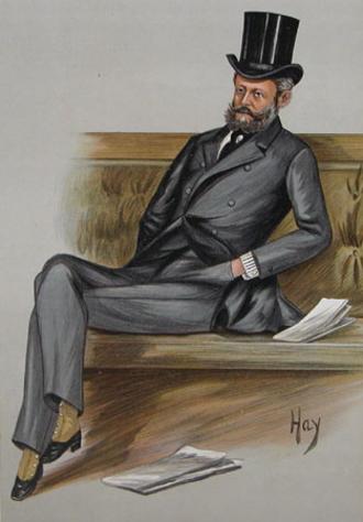 """Ferdinand de Rothschild - """"Ferdy"""", 1889 Vanity Fair caricature of Baron Ferdinand de Rothschild in the House of Commons"""