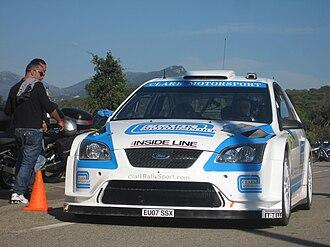 Barry Clark (rally driver) - Barry Clark at the 2008 Rallye de France.