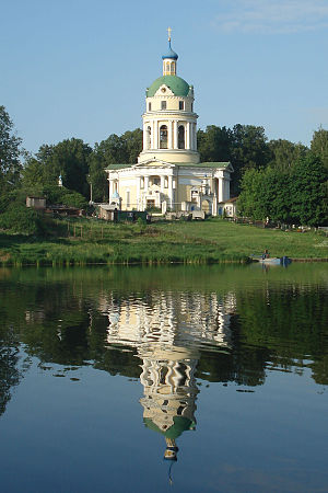 Fryazino - Saint Nicholas' Church (1823) in the historic estate of Grebnevo near Fryazino