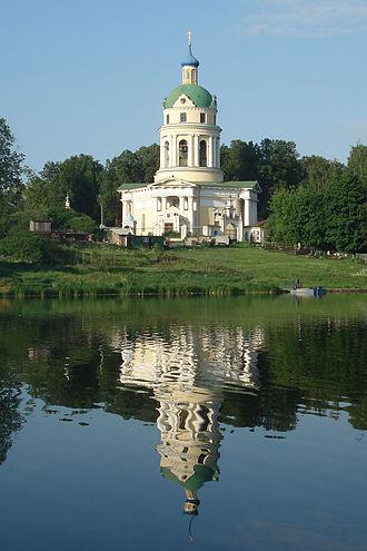 Fryazino - Saint Nicholas' Church (1823) in the historic estate of Grebnevo near Fryazino
