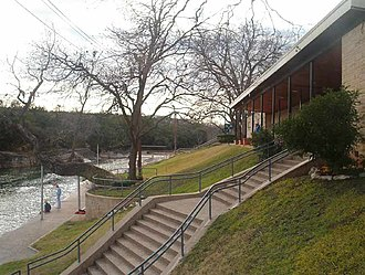 Barton Springs Pool - Stairs leading to Barton Springs Pool