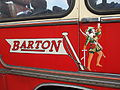 Barton Transport flag and Robin Hood logo.JPG