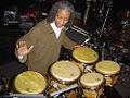 Bashiri Johnson playing percussion..jpg