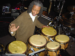 Bashiri Johnson - Bashiri Johnson playing percussion.